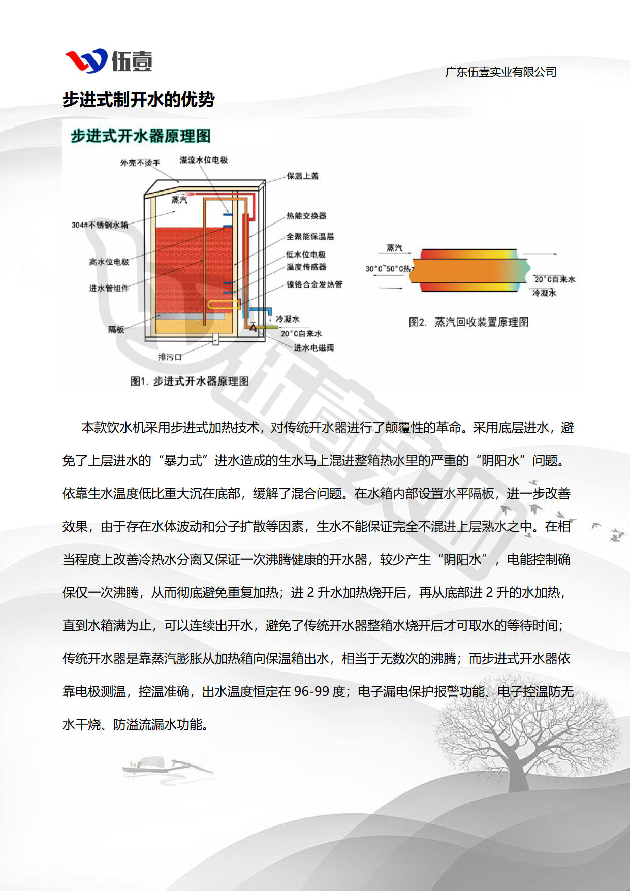 步进式开水器细节品质